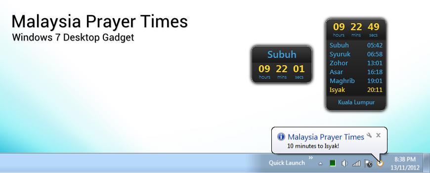 Desktop Timer For Windows 7